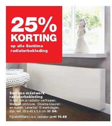 Praxis 25% Korting Op Alle Sentimo Radiatorbekleding