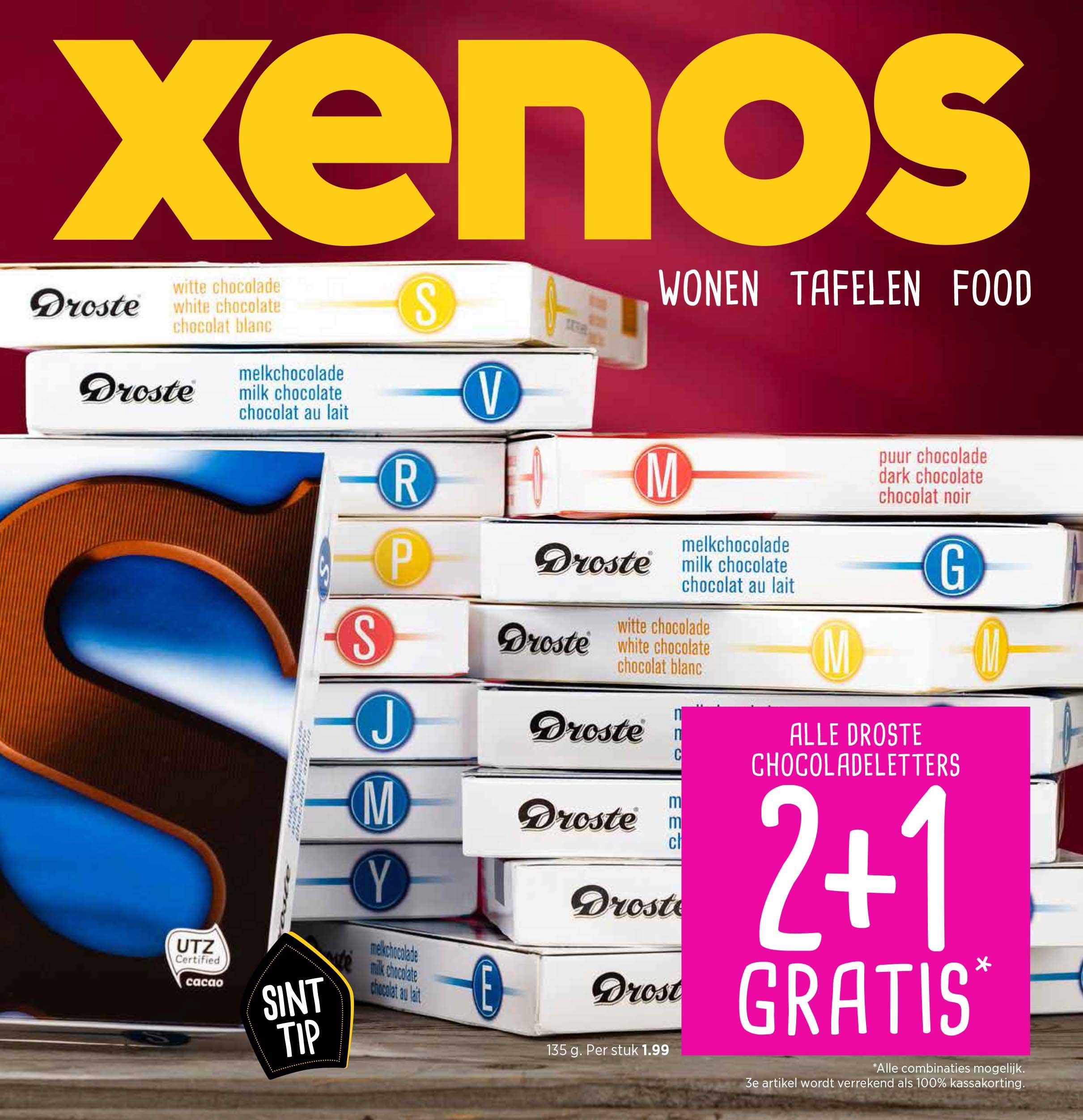 Xenos Alle Droste Chocoladeletters: 2+1 Gratis