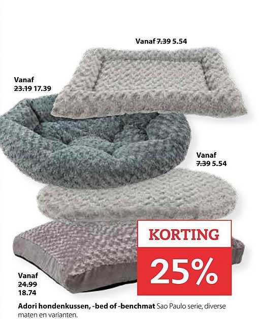 Pets Place Adori Hondenkussen, Bed Of Benchmat: 25% Korting