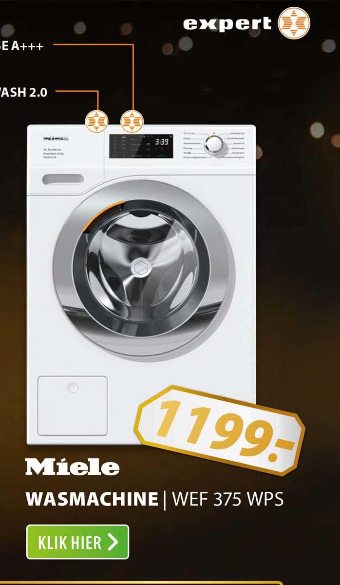 Expert Miele Wasmachine   WEF 375 WPS