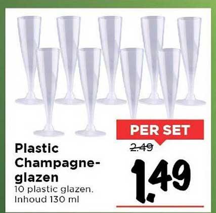 Vomar Plastic Champagneglazen