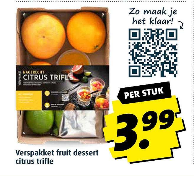 Boni Verspakket Fruit Dessert Citrus Trifle