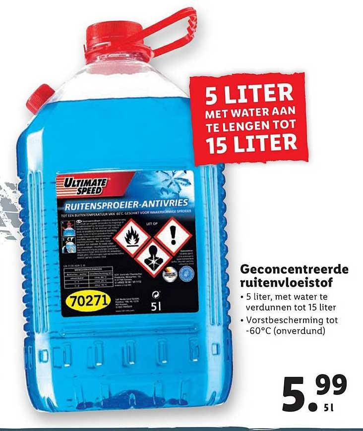 Lidl Geconcentreerde Ruitenvloeistof 5 Liter