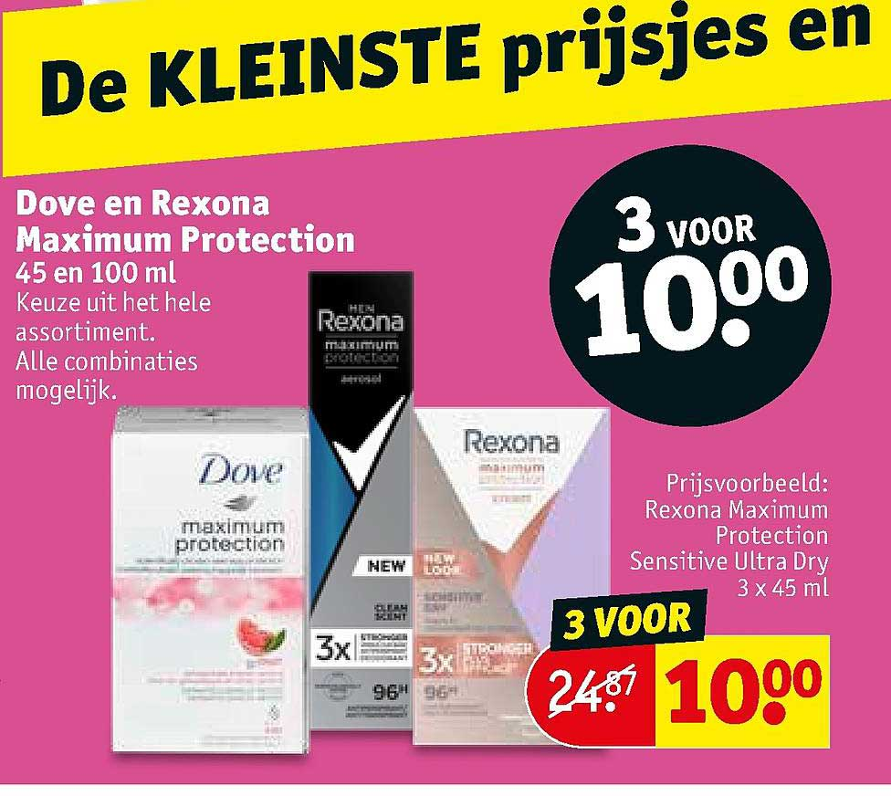 Kruidvat Dove En Rexona Maximum Protection