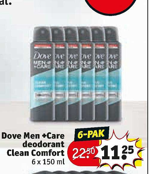 Kruidvat Dove Men +Care Deodorant Clean Comfort