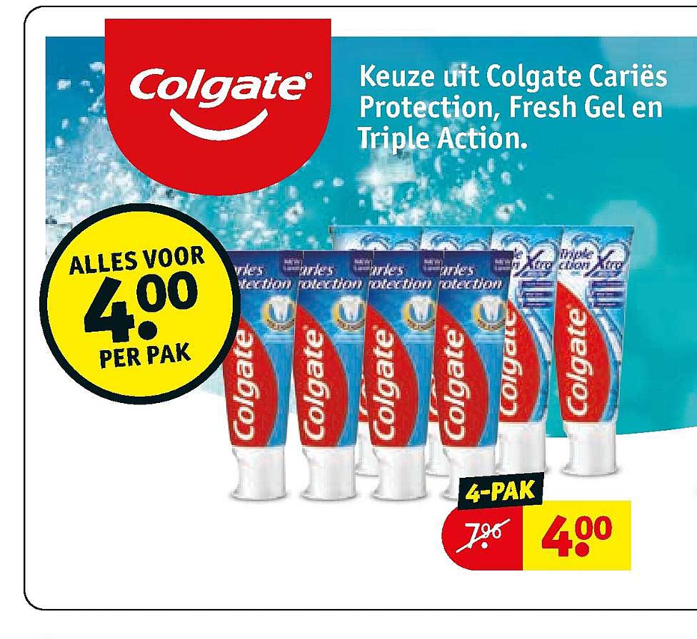 Kruidvat Keuze Uit Colgate Cariës Protection, Fresh Gel En Triple Action