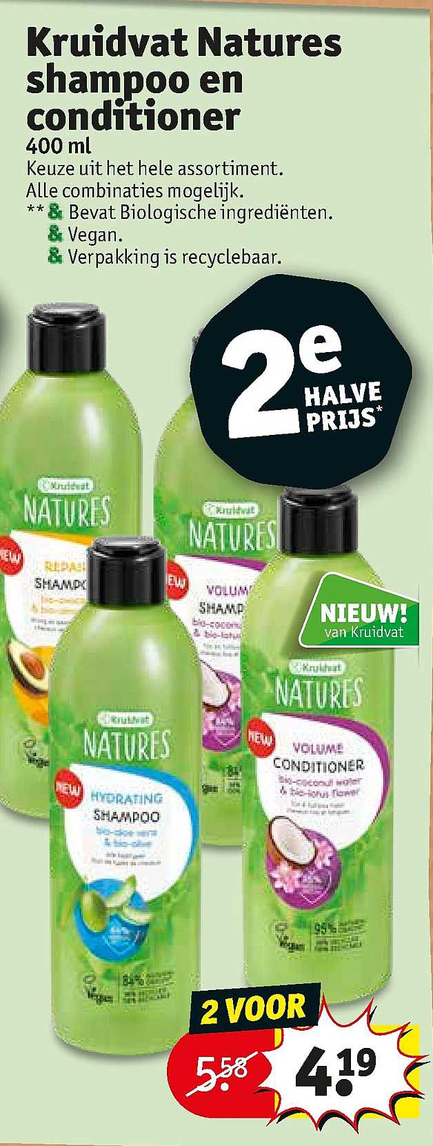 Kruidvat Kruidvat Natures Shampoo En Conditioner