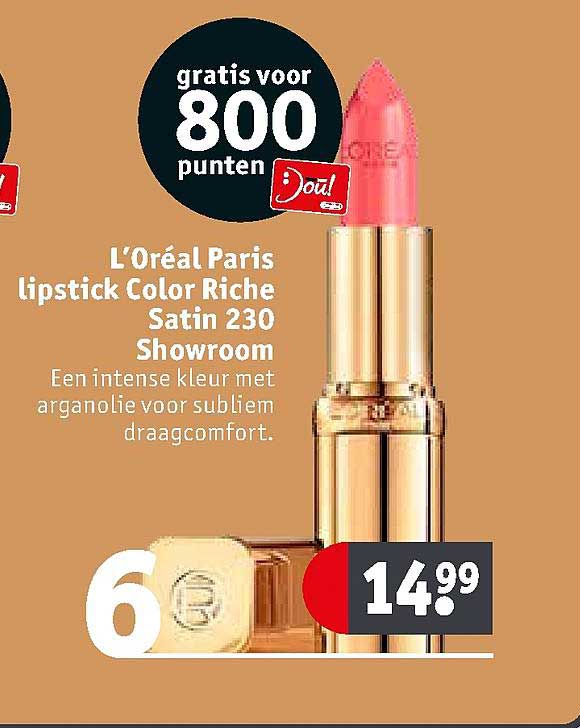 Kruidvat L'Oréal Paris Lipstick Color Riche Satin 230 Showroom