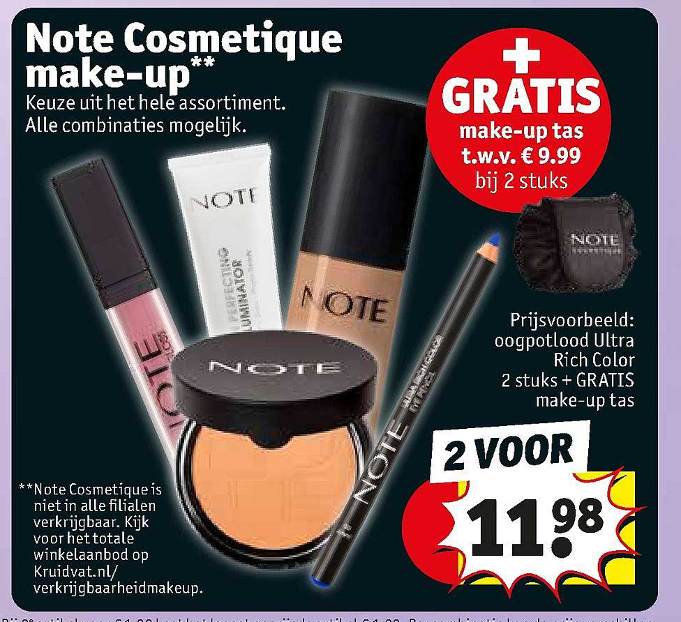 Kruidvat Note Cosmetique Make-Up
