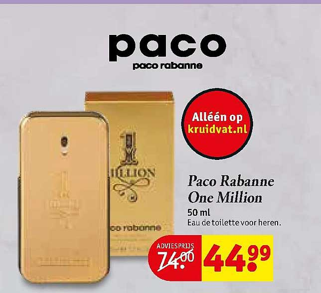 Kruidvat Paco Rabanne One Million