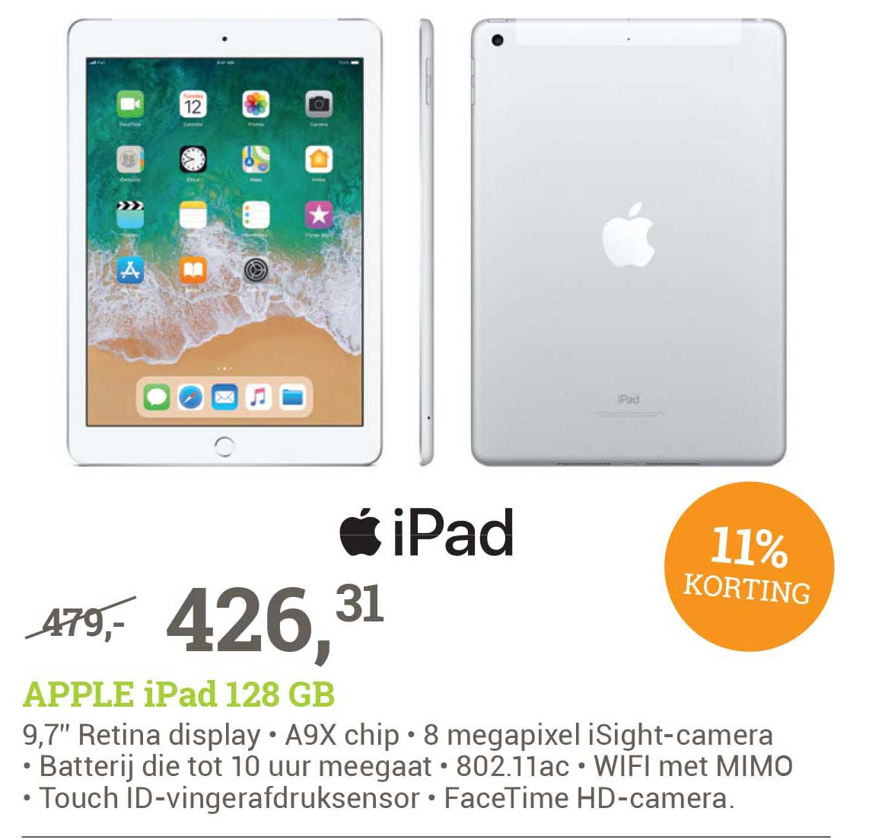 BCC Apple Ipad 128 Gb: 11% Korting