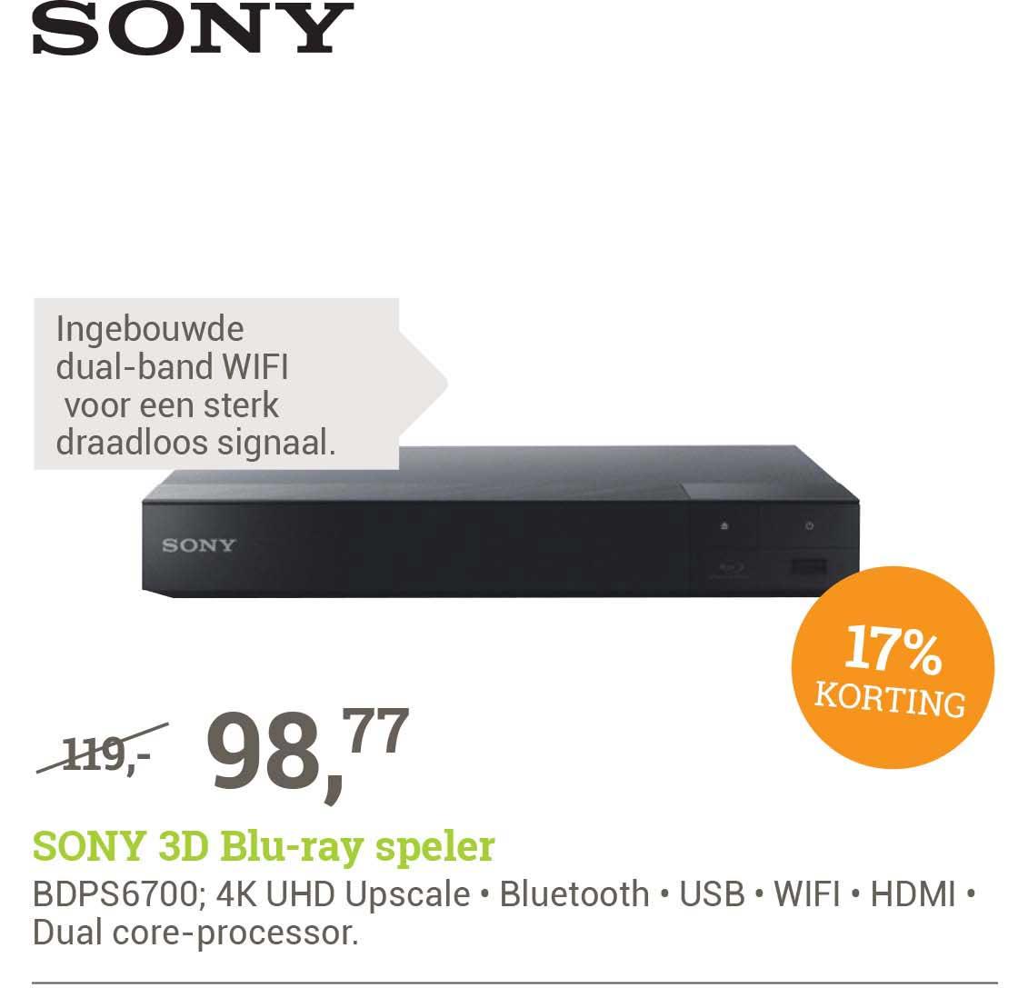 BCC Sony BDPS6700 3D Blu Ray Speler