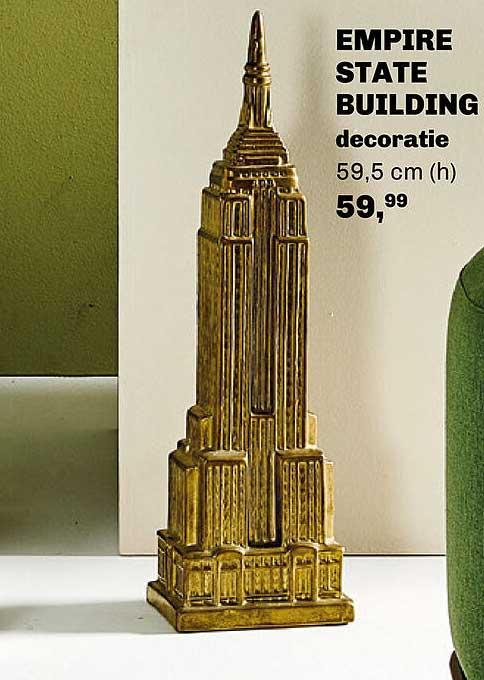 Trendhopper Empire State Building Decoratie 59,5 Cm
