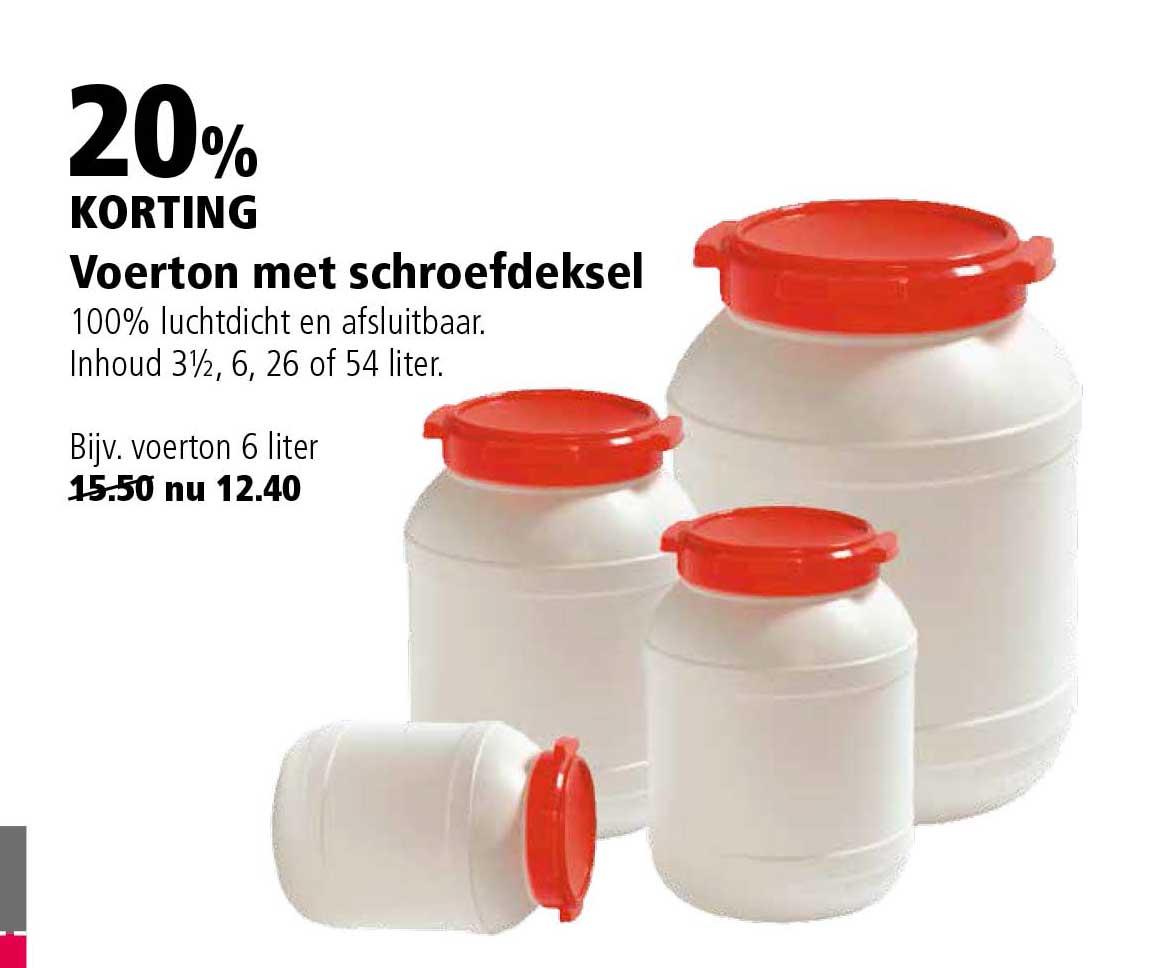 Welkoop Voerton Met Schroefdeksel: 20% Korting