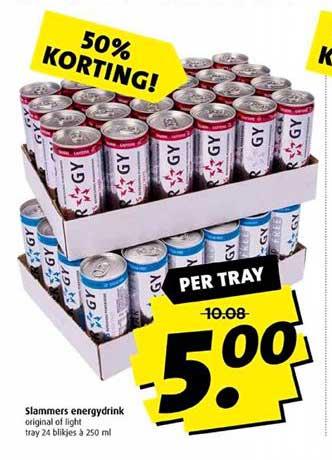 Boni Slammers Energydrink 50% Korting