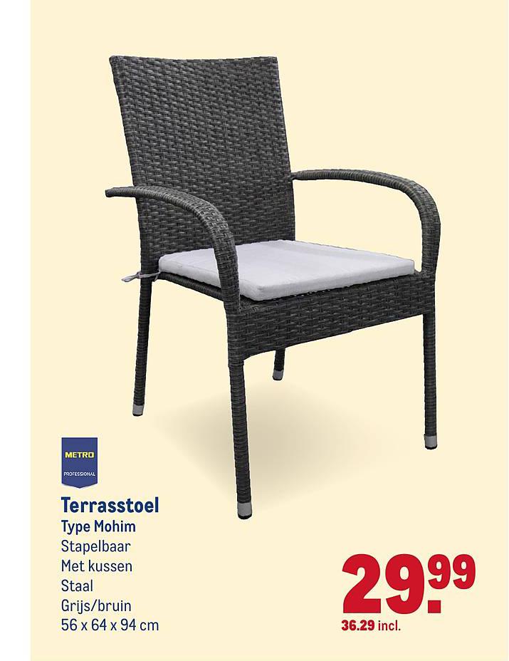 Metro Professional stoelen folder aanbieding