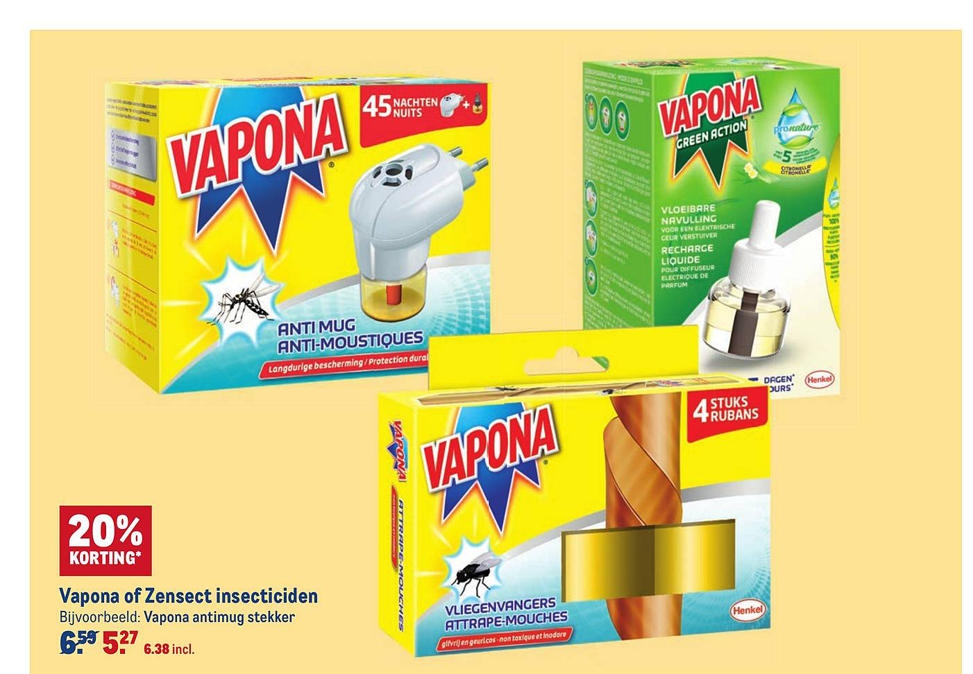 Makro Vapona Of Zensect Insecticiden 20% Korting