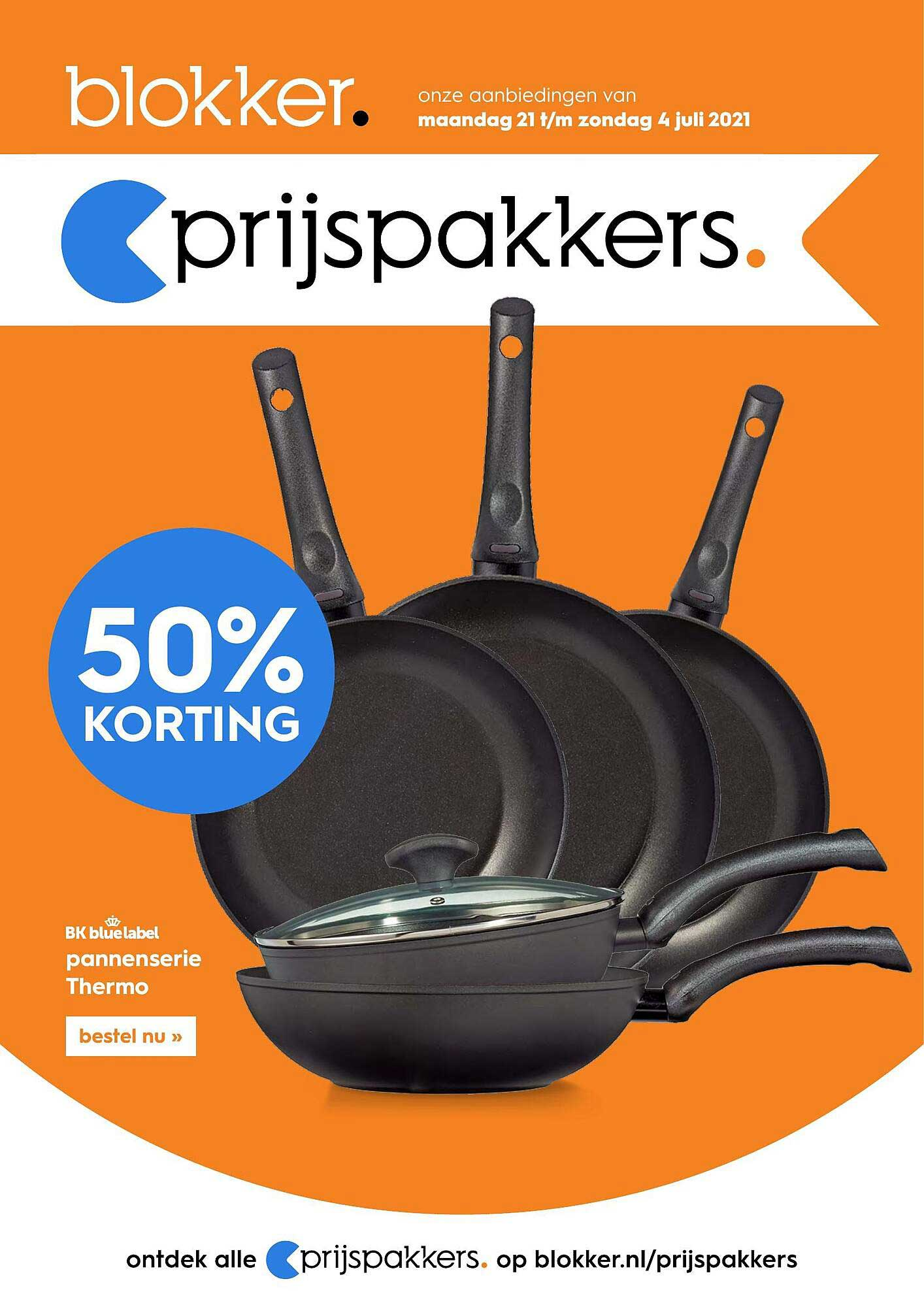 Blokker BK Blue Label Pannenserie Thermo 50% Korting
