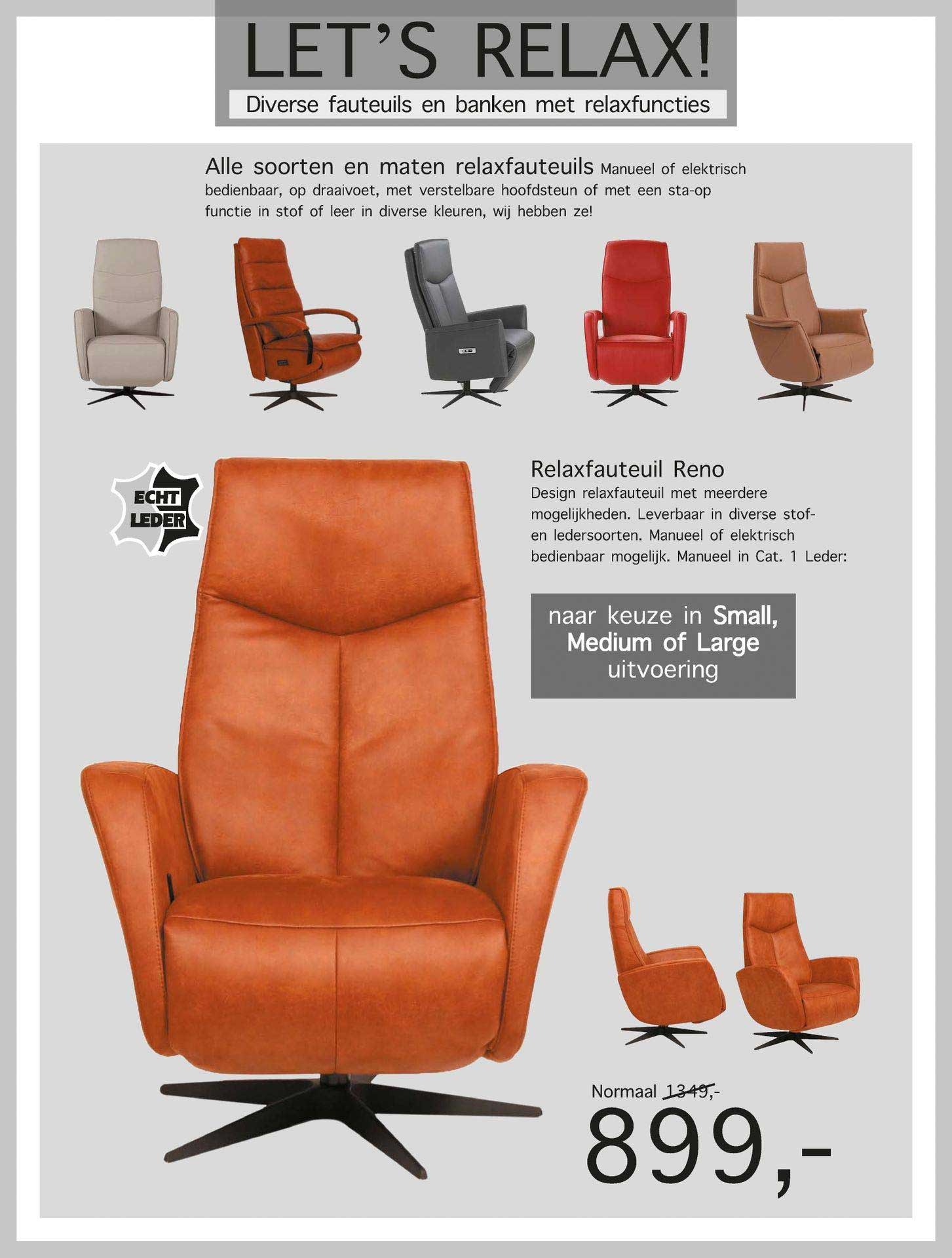 Woonsquare Relaxfauteuil Reno