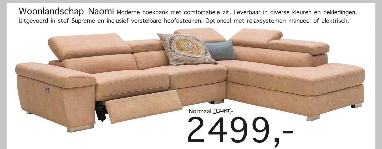 Woonsquare Woonlandschap Naomi Moderne Hoekbank Met Comfortabele Zit