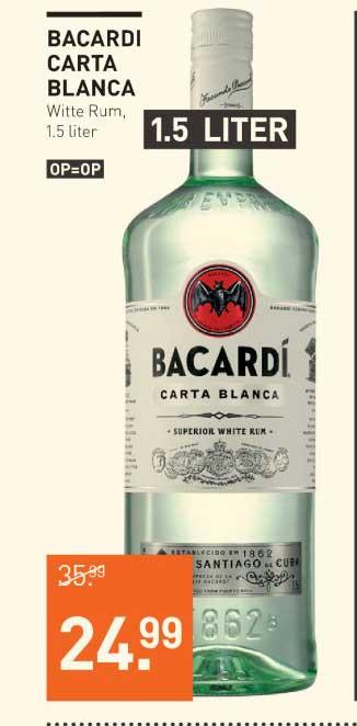Gall & Gall Bacardi Carta Blanca 1.5 Liter