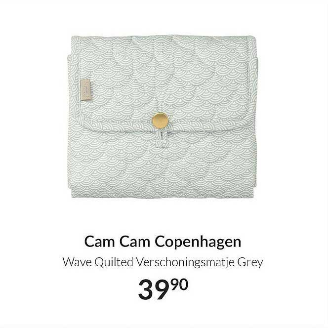Babypark Cam Cam Copenhagen Wave Quilted Verschoningsmatje Grey