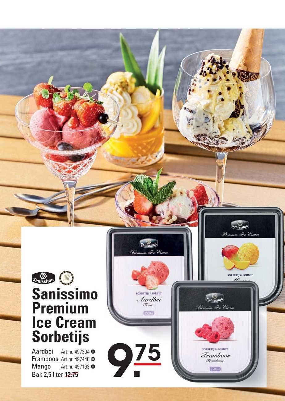 Sligro Sanissimo Premium Ice Cream Sorbetijs