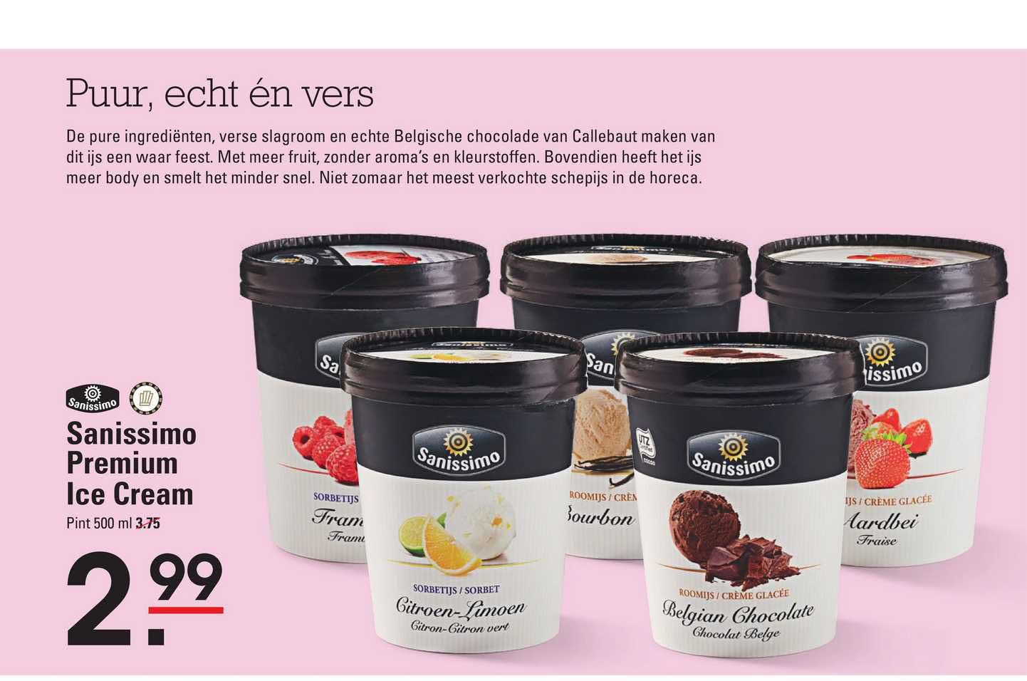 Sligro Sanissimo Premium Ice Cream