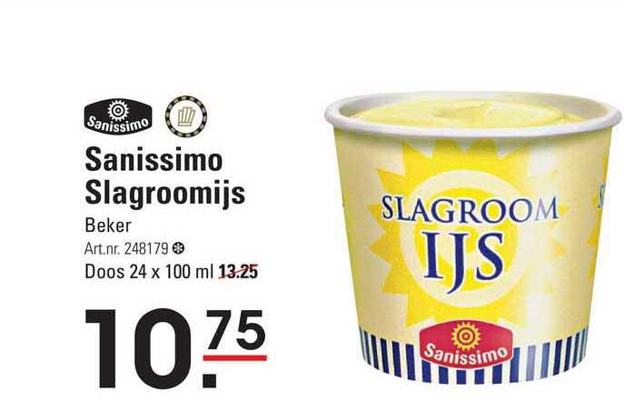 Sligro Sanissimo Slagroomijs