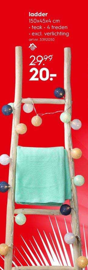 Ladder Aanbieding Bij Blokker