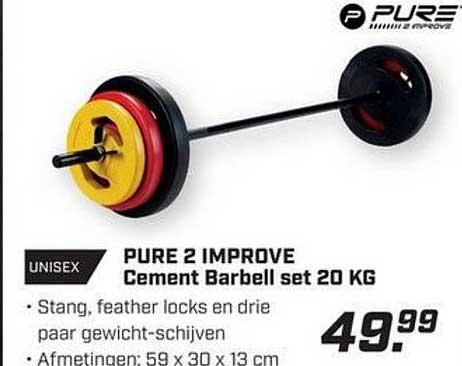 DAKA Pure 2 Improve Cement Barbell Set 20 KG