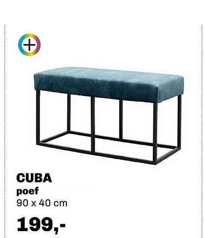 Trendhopper Cuba Poef 90 X 40 Cm