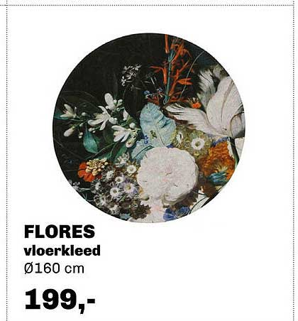 Trendhopper Flores Vloerkleed Ø160 Cm