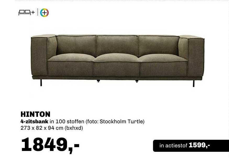 Trendhopper Hinton 4-Zitsbank 273 X 82 X 94 Cm