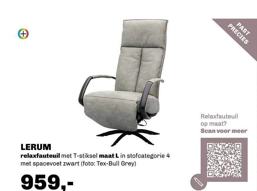 Trendhopper Lerum Relaxfauteuil Met T-Stiksel