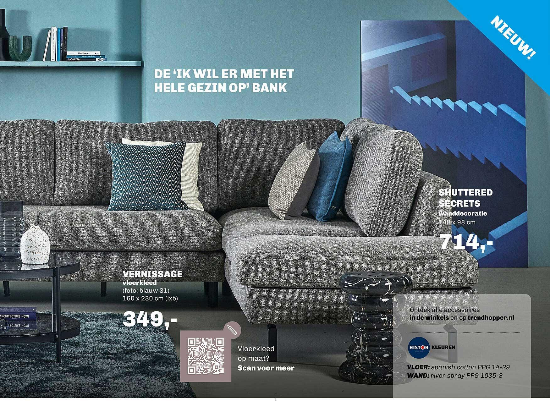 Trendhopper Vernissage Vloerkleed 160 X 230 Cm Of Shuttered Secrets Wanddecoratie 148 X 98 Cm