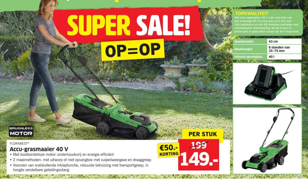 Lidl Shop Accu Grasmaaier 40v