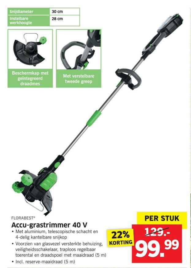 Lidl Shop Accu Grastrimmer 40 V