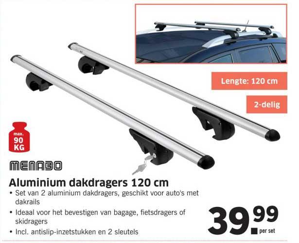 Lidl Shop Aluminium Dakdragers