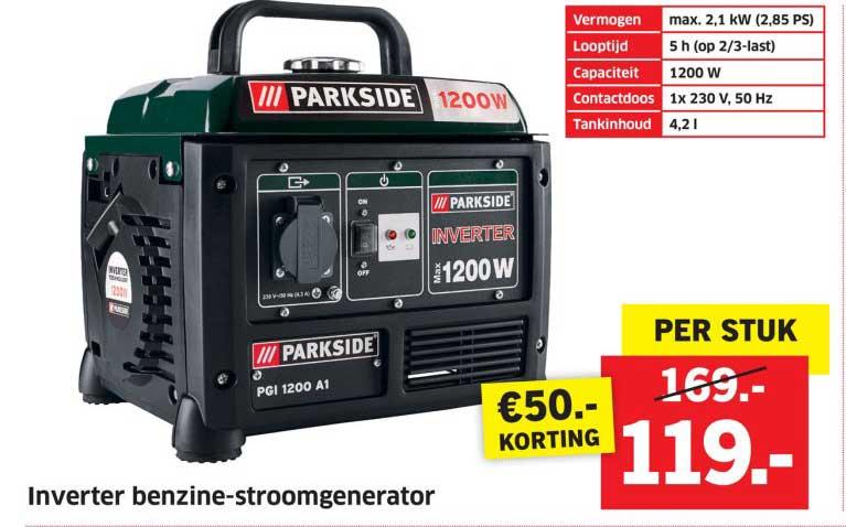 Lidl Shop Inverter Benzine Stroomgenerator