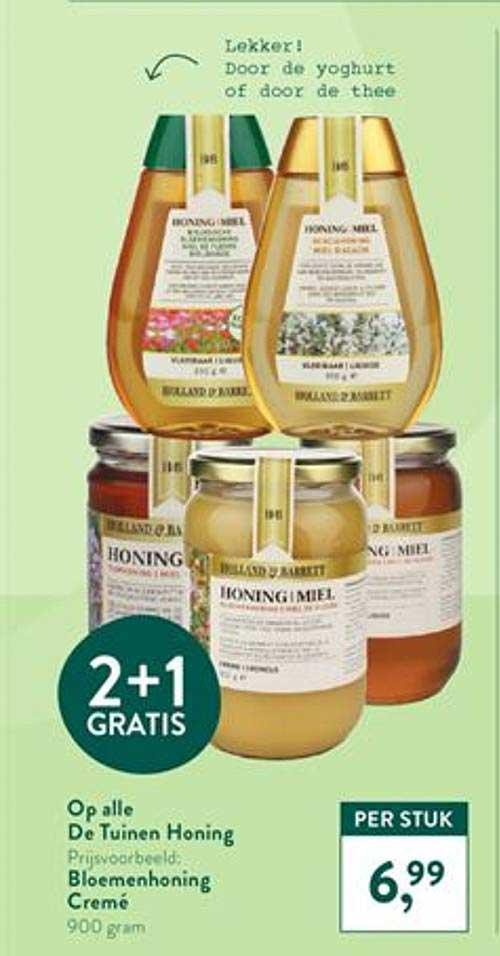 Holland & Barrett Op Alle De Tuinen Honing 2+1 Gratis