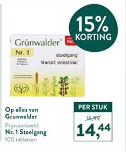 Holland & Barrett Op Alles Van Grunwalder 15% Korting