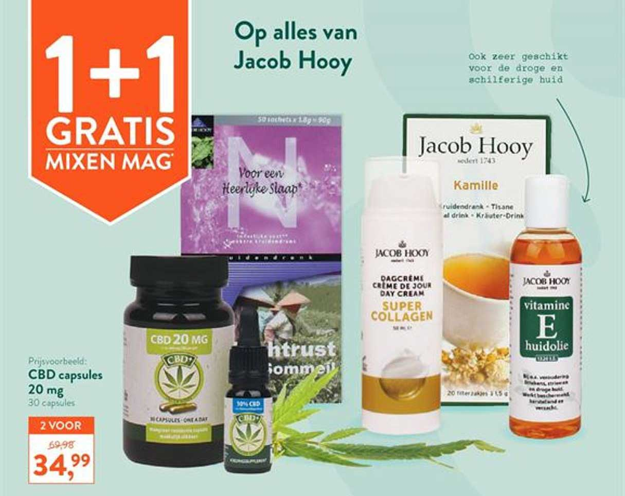 Holland & Barrett Op Alles Van Jacob Hooy 1+1 Gratis