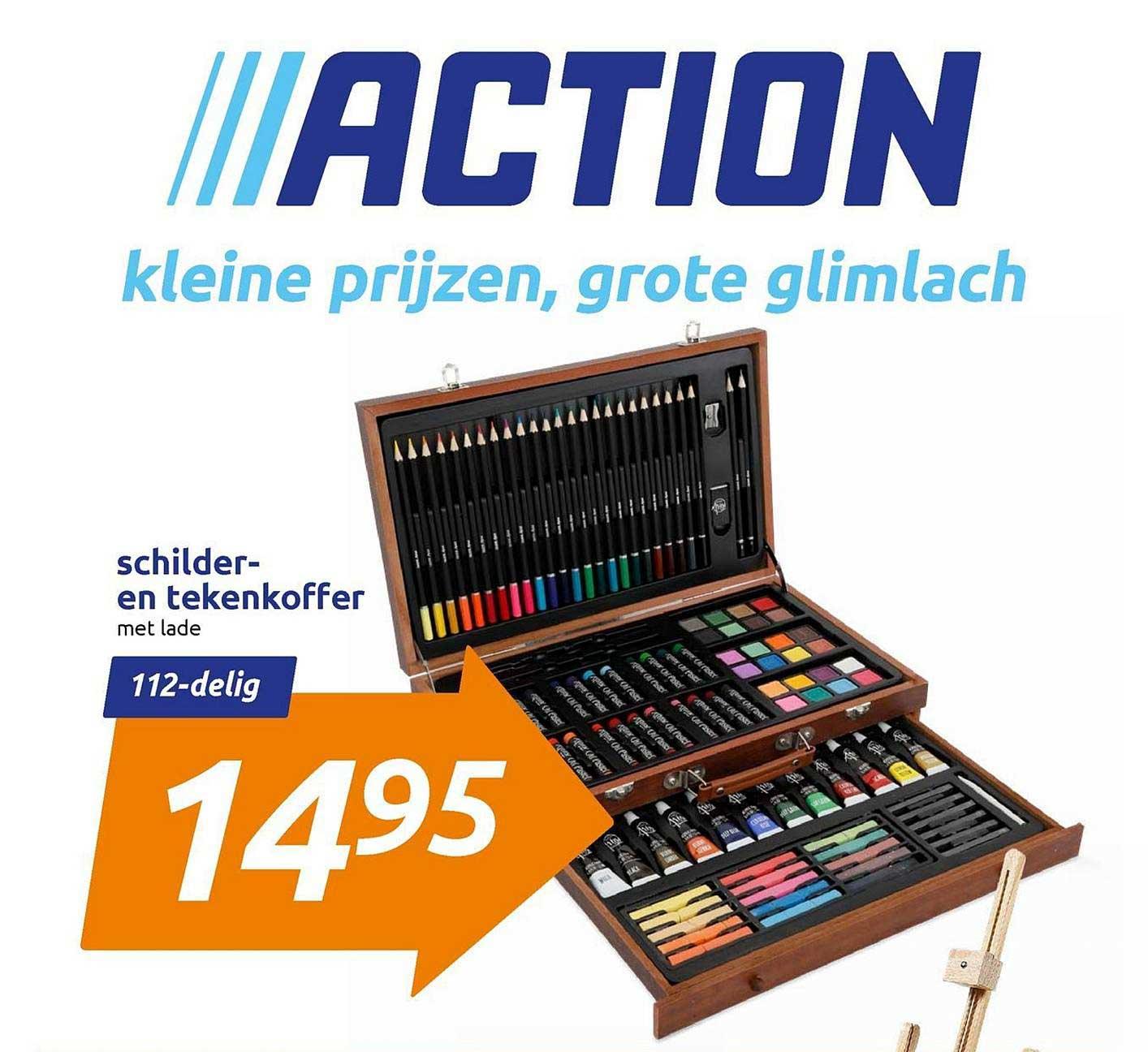 Action Schilder- En Tekenkoffer