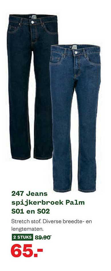 Welkoop 247 Jeans Spijkerbroek Palm S01 En S02