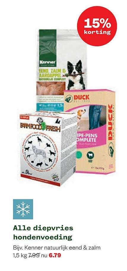Welkoop Alle Diepvries Hondenvoeding 15% Korting