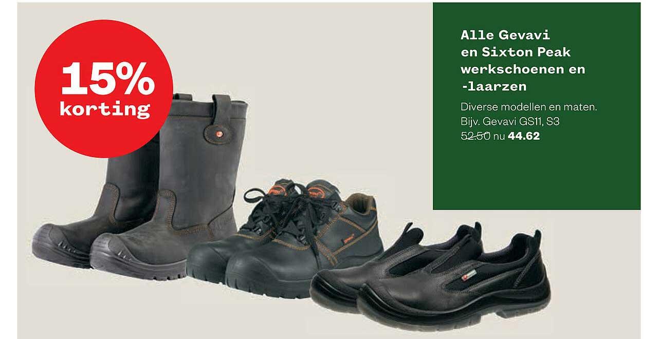 Welkoop Alle Gevavi En Sixton Peak Werkschoenen En -Laarzen 15% Korting