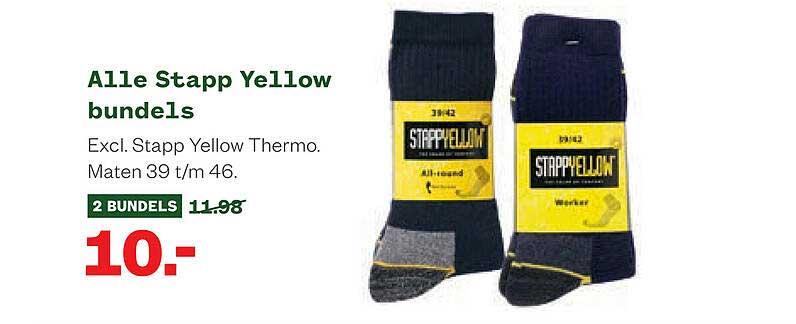 Welkoop Alle Stapp Yellow Bundels