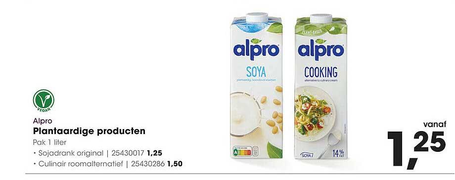 HANOS Alpro Plantaardige Producten Sojadrank Original Of Culinair Roomalternatief