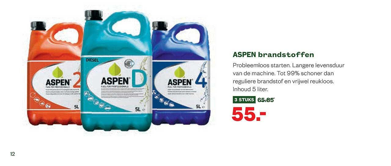 Welkoop Aspen Brandstoffen